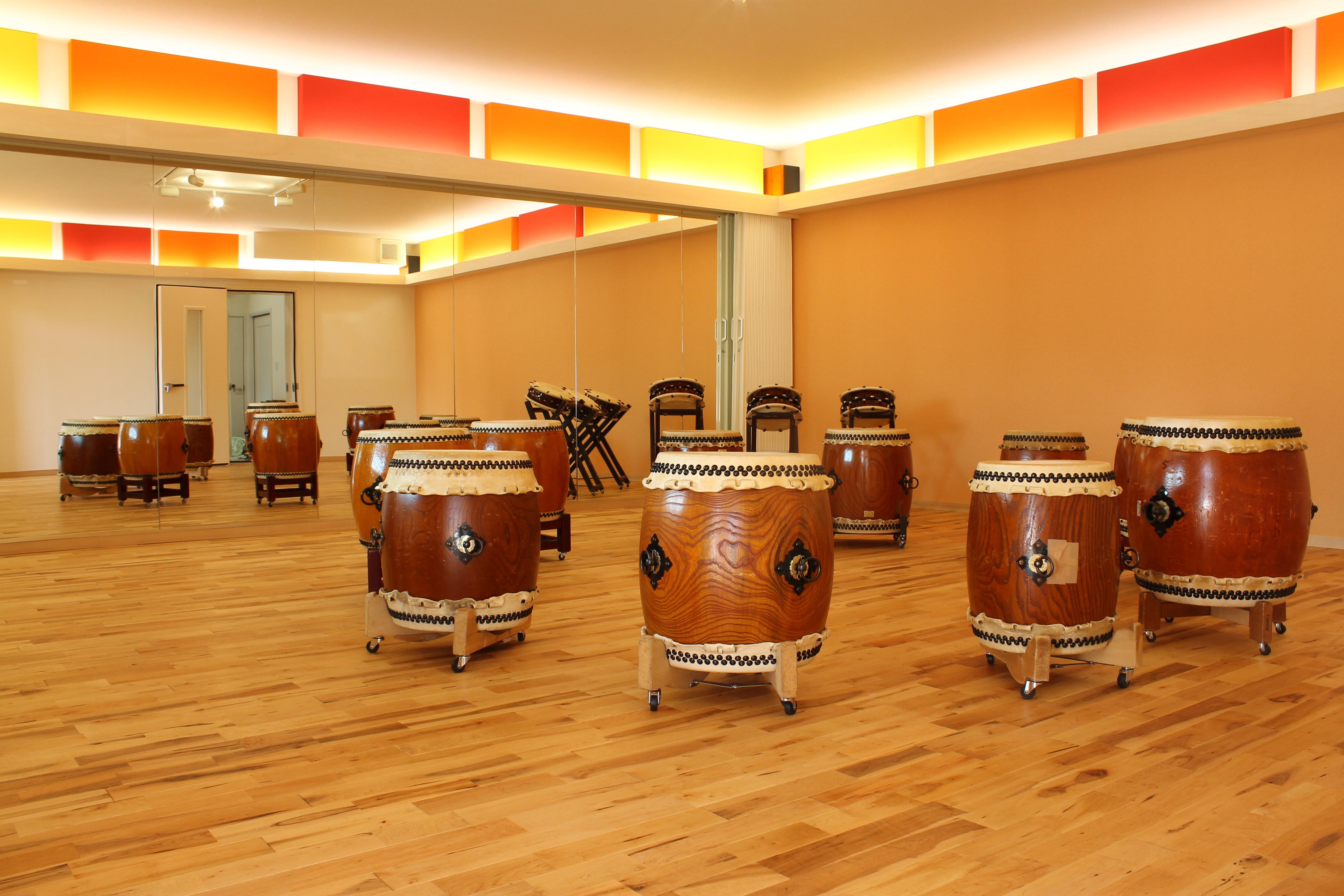近隣からの苦情があり実現した和太鼓スタジオ防音室