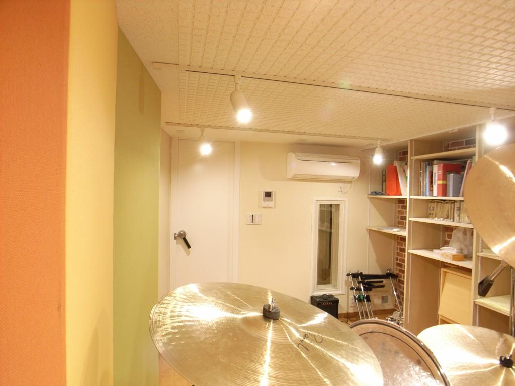 半地下室でのドラム防音室 画像2