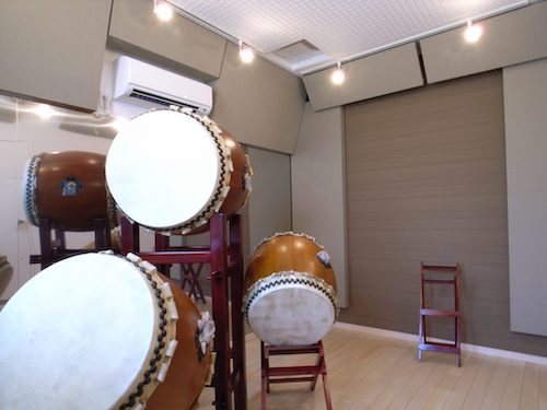 角地の立地を生かした和太鼓防音室