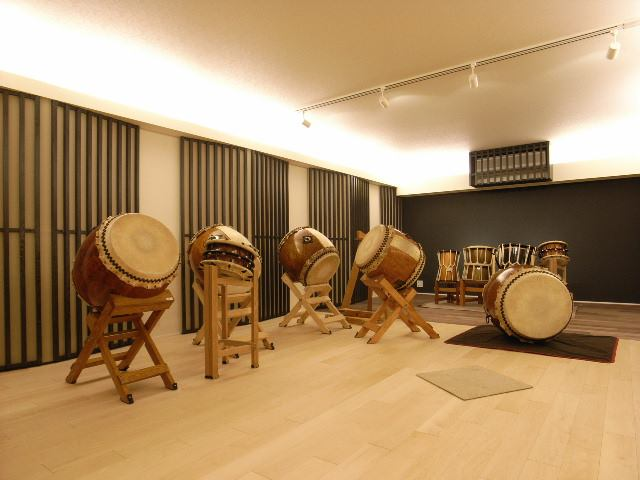 住宅街の中にある和太鼓スタジオ防音室